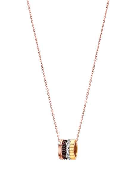 Boucheron Diamond Quatre Mini Ring Pendant Necklace
