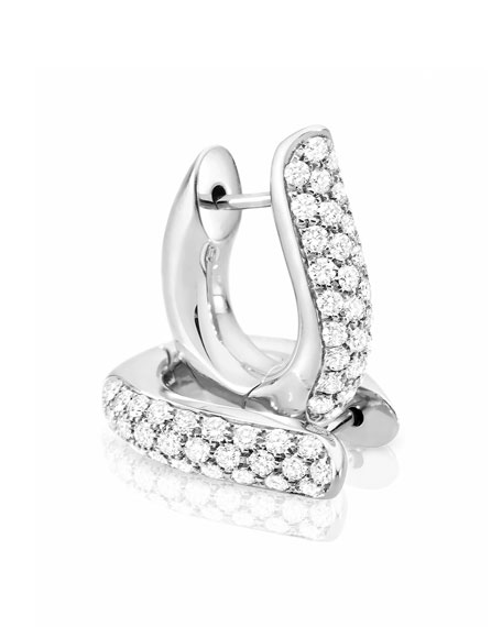Tamara Comolli Pavé Diamond Hoop Earrings in 18K White Gold IUl1SmlfTm