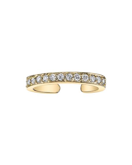 Anita Ko 18k Gold Single-Row Diamond Ear Cuff