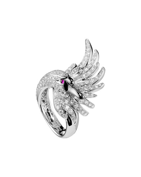 18k Diamond Cypris, The Swan Ring, Size 50