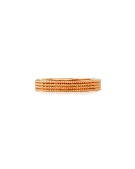 Symphony Collection 18K Gold Stacked Barocco Ring, Size 6.5