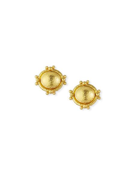 Elizabeth Locke Horizontal 19K Dome Earring Pendants vzMy1