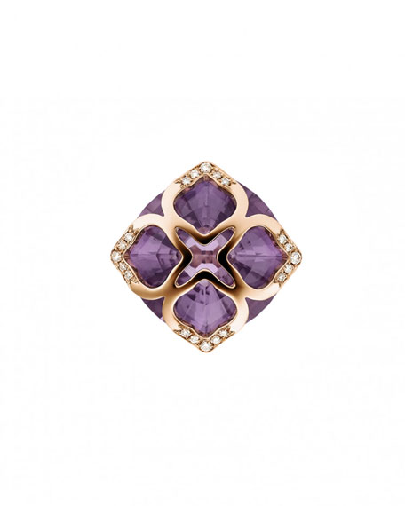 Imperiale Amethyst Ring with Diamonds, Size 55