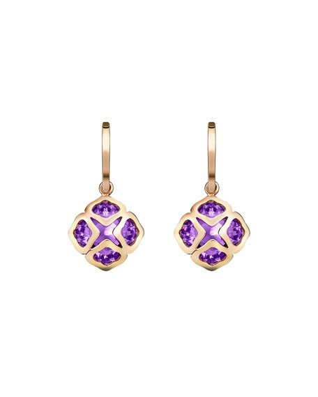 Imperiale Amethyst Drop Earrings in 18K Rose Gold