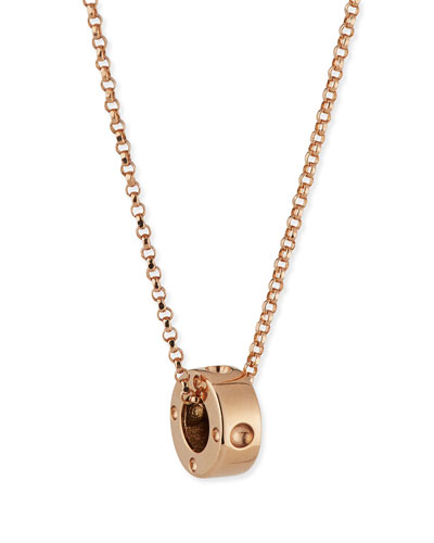 Symphony Collection 18K Gold Mini Pois Moi Circle Pendant Necklace