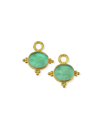 19k Nile Venetian Glass Earring Charms