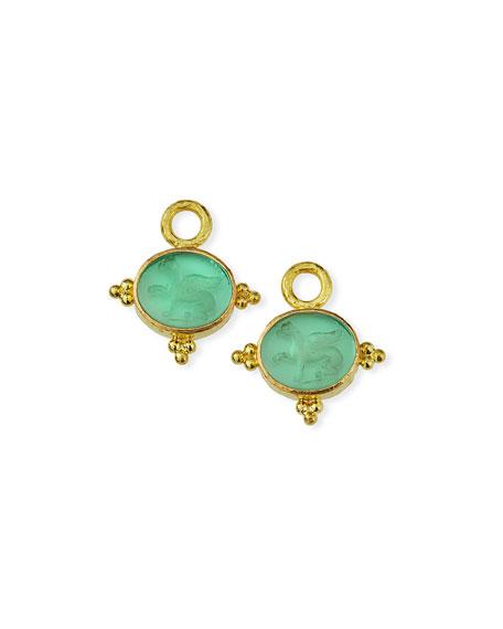Elizabeth Locke 19k Nile Venetian Glass Earring Charms