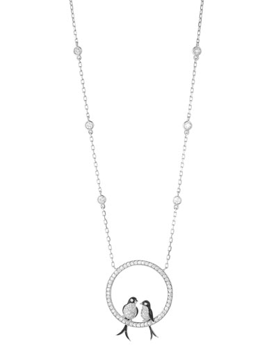 18k Diamond Swallows Pendant Necklace