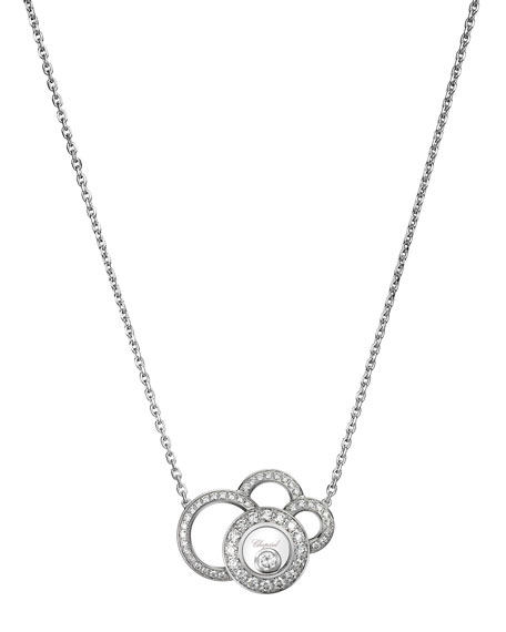 Happy Dreams Necklace with Diamonds in 18K White Gold