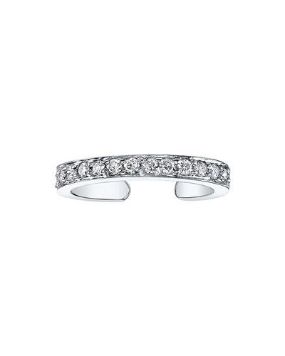 18k White Gold Diamond Ear Cuff (Single)