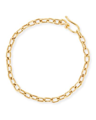 22k Gold Cadene 12 Chain Bracelet