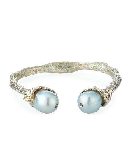 K Brunini Sterling Silver Twig & 12mm Pearl
