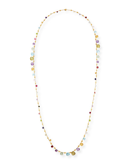 Paradise Long Mixed-Stone Necklace, 48""