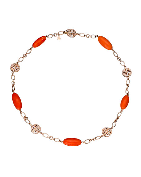 Margot McKinney Jewelry Coral & Diamond Station Bracelet