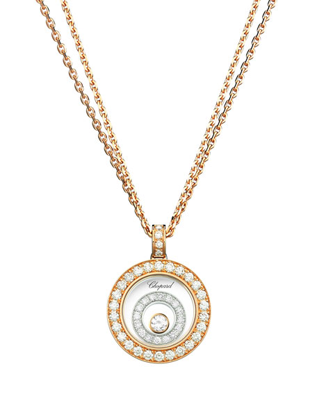 Chopard Happy Spirit 18k Two-Tone Diamond Long Pendant