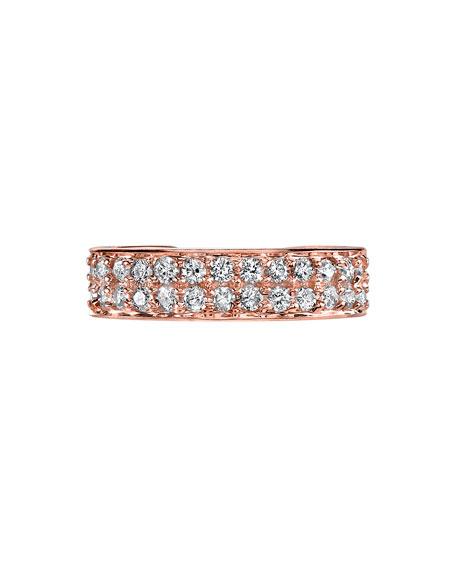 18k Rose Gold Double-Row Diamond Ear Cuff (Single)