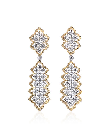 Buccellati Rombi Diamond Drop Earrings 4urm6