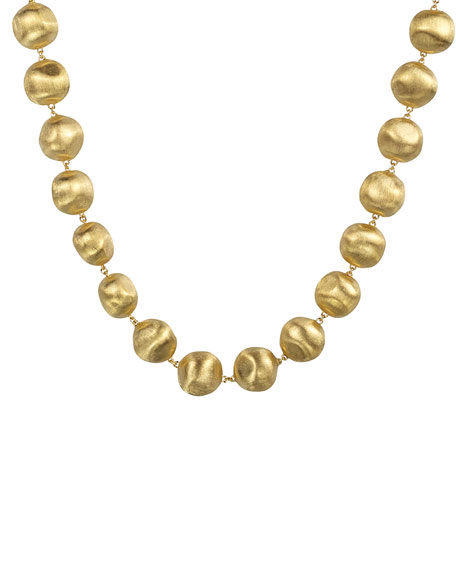 Africa Beaded 18K Necklace, 18""
