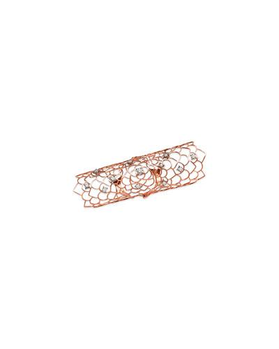 18k Rose Gold Moresca Long Hinged Armor Ring w/ Diamonds