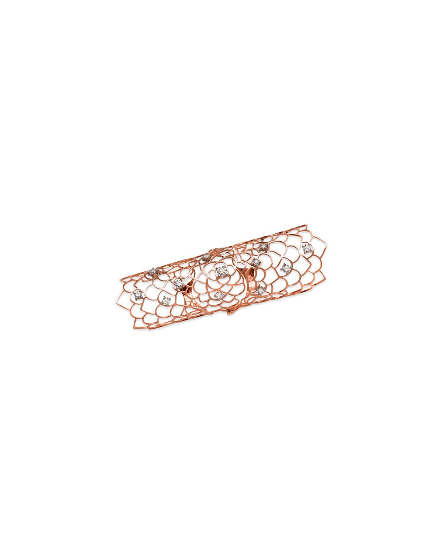 Staurino Fratelli 18k Moresca Dragonfly Ring w/ Diamonds iz6Tyl9V0