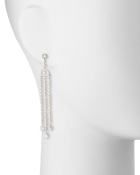 Tri-Dangle Diamond Chandelier Earrings