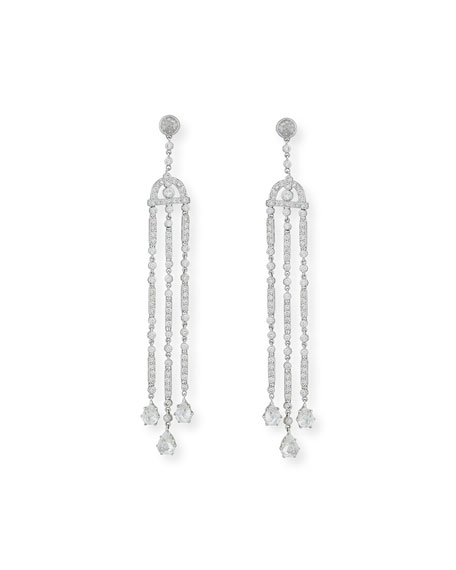 Tri-Dangle Diamond Chandelier Earrings