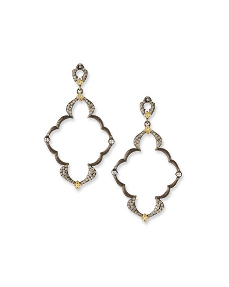 Old World Open Scroll Dulcinea Earrings with Diamonds