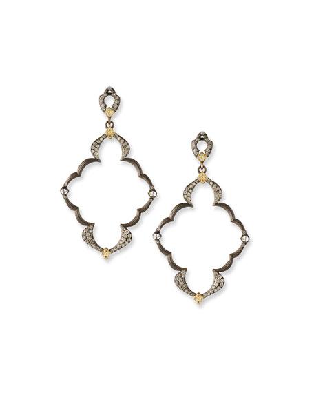 Armenta Old World Open Scroll Dulcinea Earrings with