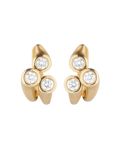 Whirl 18k Gold Diamond Cluster Earrings