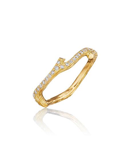 Wonderland Pave Diamond Eternity Band Ring, Size 7