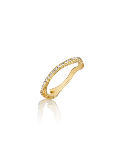Wonderland Pavé Diamond Eternity Band Ring, Size 7