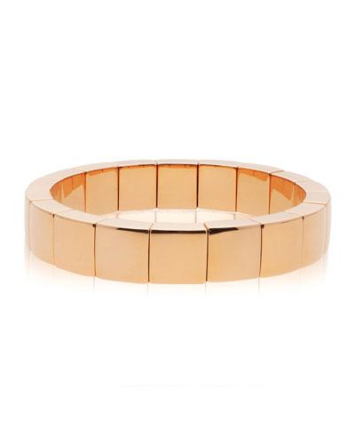 AURA 18k Rose Gold Square Stretch Bracelet