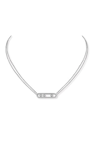 Messika Move Diamond Pendant Necklace in 18K White Gold