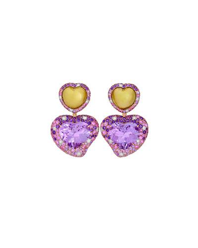 Hearts Desire Rose de France Earrings