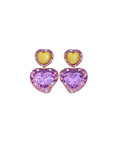products with a france diamonds de rose earrings and drop furst sapphires gold pink dynamite