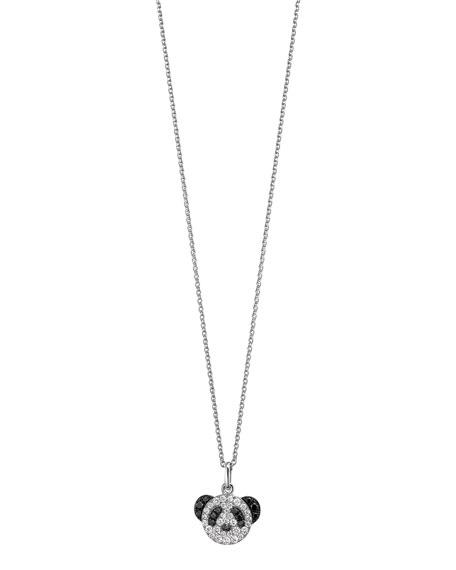Petite Bobo Panda Pendant Necklace with Diamonds