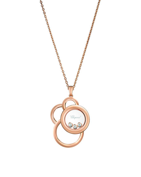 Chopard Happy Dream 18k Rose Gold Necklace with Diamonds