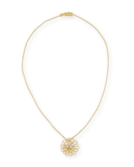 Renaissance Pompom Pendant Necklace with Diamonds