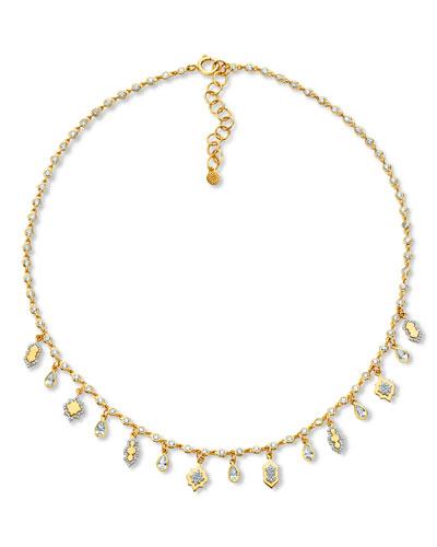 20k Diamond Lantern Necklace
