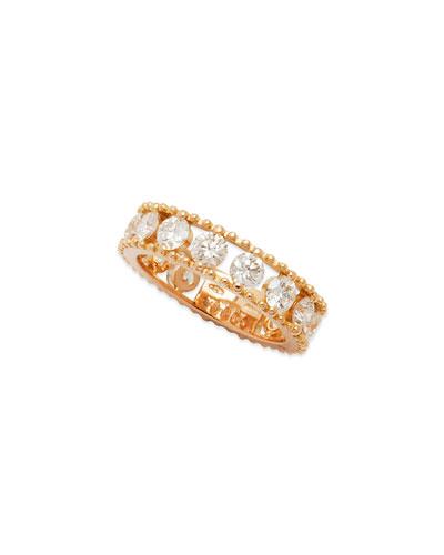 Allegra 18k Rose Gold Diamond Openwork Band Ring (2.45ct)