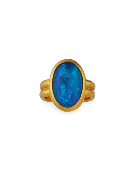 Gurhan One-of-a-Kind 24K Gold Opal Ring