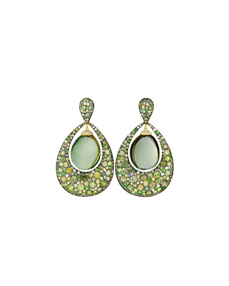 Margot McKinney Jewelry Greenbell Drop Earrings with Green