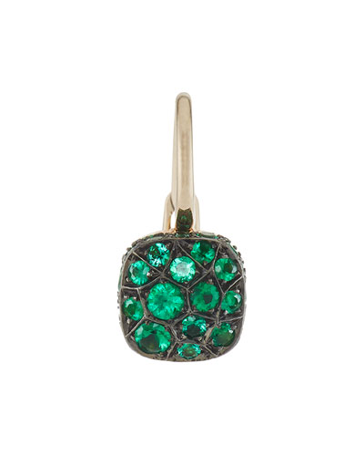 Nudo Emerald Drop Earrings in 18K Gold