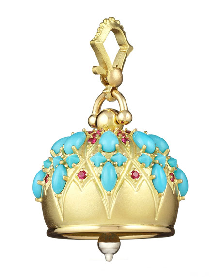 Cathedral Bell Cabochon Charm