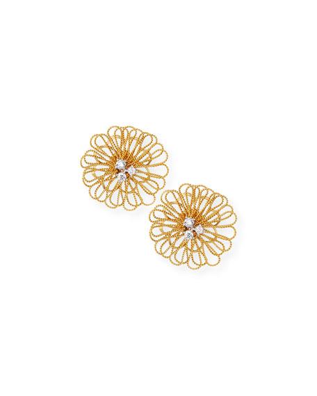 Renaissance Pompom Earrings with Diamonds