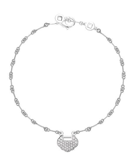 Petite Yu Yi 18K White Gold Bracelet with Diamonds