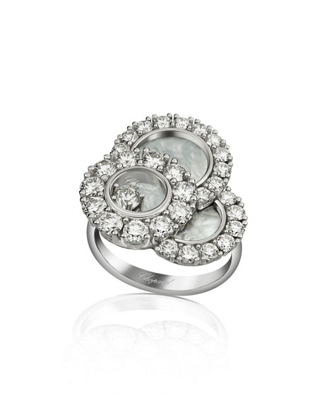 Happy Dreams Mother-of-Pearl Ring with Diamonds, Size 53