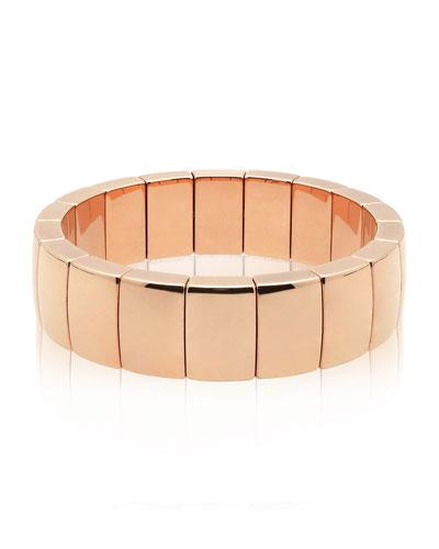 AURA 18k Rose Gold Rectangular Stretch Bracelet