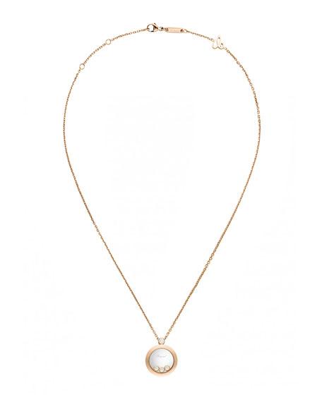 Happy Diamonds 18K Rose Gold Pendant Necklace