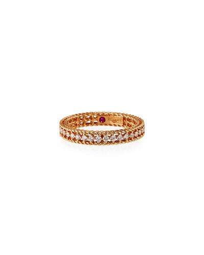 Symphony Collection 18K Princess Diamond Band Ring, Size 6.5